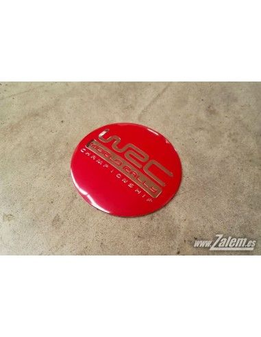 WRC red adhesive emblem / sticker