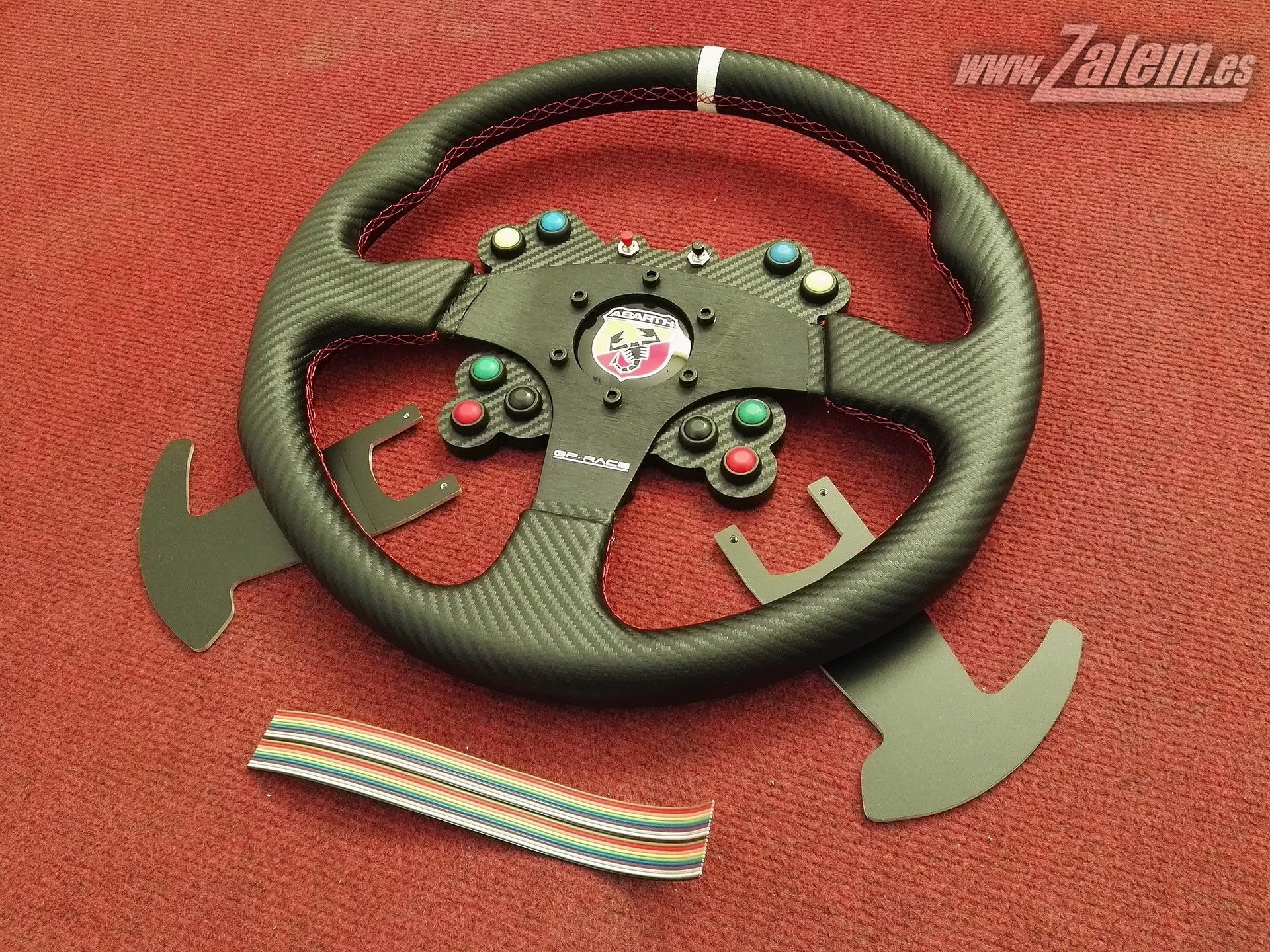 Real Steering wheel Panel with Logitech