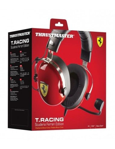 Auriculares Gaming T.Racing Ferrari Edition