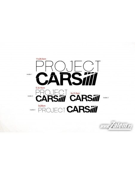 Vinilos / Pegatinas Project CARS